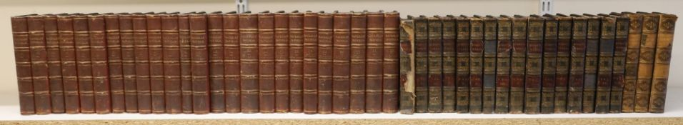 "Scott, Walter Sir - Works. ""Waverley Novels"", 25 vols, 12mo, contemporary half morocco, Adam and"