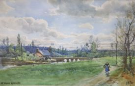 George Stratton Ferrier (1852-1912), watercolour, St Croix, Guingamp, initialled and dated '97, 22 x