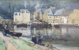 George Stratton Ferrier (1852-1912), watercolour, Dinant, Belgium, signed and dated 1896, 22 x