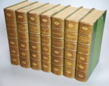 Bronte, Charlotte, Emily and Anne - Works, The Haworth edition, 7 vols, 8vo, half green calf, (