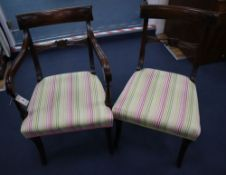 A set of eight Regency style mahogany dining chairs (six plus two)