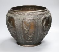 A Japanese bronze jardiniere, height 28cmCONDITION: There are several small repairs visible to the