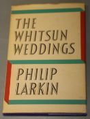 Larkin, Philip - The Whitsun Weddings, 1st edition, 8vo, maroon cloth in clipped d.j., Faber and