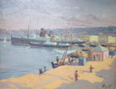 Paul Nicolai (1876-1948), oil on board, Port d'Alger, signed and dated '27, 31 x 39cmCONDITION: Good
