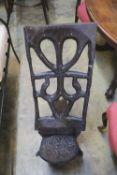 An African hardwood birthing chair, height 98cm