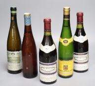 Two bottles of Meursault Clos de la Baronne, 1983, one Schloss Johannisberger Riesling, 1988, one