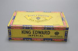 An unopened box of 50 King Edward Imperial cigars