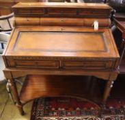 A French style mahogany bureau, width 90cm, depth 60cm, height 105cm