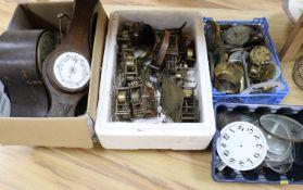 Clock repairers interest: Parts, movements, glasses, dials (a.f.)