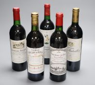 One bottle of Chateau Le Gay, Pomerol, 1986, one Balestard La Tonnelle, St. Emilion, 1983, one