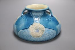 A Minton Secessionist two handled vase, diameter 18cmCONDITION: One small scratch, approx. 1cm,
