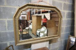 A Victorian style overmantel mirror, 105 x 75cm
