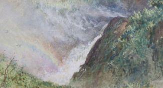 William Leighton Leitch (1804-83), watercolour, The Cascade, Tivoli, signed, with Agnews label