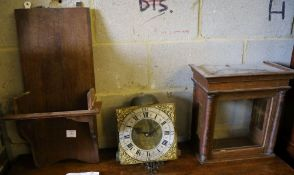 An 18th century oak cased thirty hour wall clock, marked Nick & Roper, Shepton MalletCONDITION: