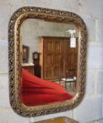 A Victorian style gilt framed wall mirror, 59cm x 74cm