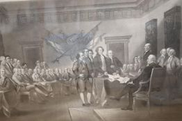 Sadd after Trumbull, steel engraving, The Declaration of Independence, published by J. Neale, 34 x
