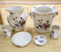A Bisto earthenware six piece dressing set, pail 25cm excl. swing handle