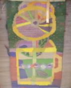A Gordon Crook fabric panel