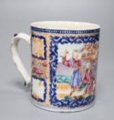 A Chinese export Mandarin pattern mug, height 11cm