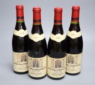 Four bottles of Ruchottes-Chambertin Grand Cru Georges Mugneret, 1987.