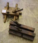 A collection of Victorian and Edwardian beech moulding planes and a plough plane