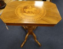 An inlaid Sorrento table, width 81cm depth 53cm height 74cm