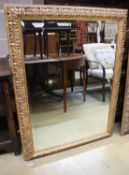 A rectangular gilt frame wall mirror, 89 x 121cm