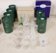 Sundry assorted glassware