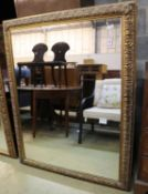 A large Victorian style gilt framed wall mirror, 108 x 140cm