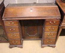 A George III style mahogany bureau bookcase, width 105cm, depth 53cm, height 178cm