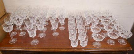 A suite of Waterford glassware