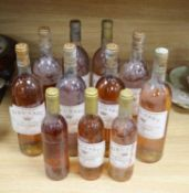 Rieussec Sauternes 1978 (6), 1979 (1), 1981 (1) and three 1981 half bottles