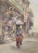 H.G. Gundy, watercolour, Japanese street scene, signed, 25 x 18.5cm signed 9.75 x 7.5in.CONDITION: