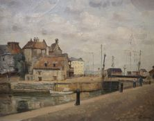 Edmond Ceria (1884-1955), oil on canvas, 'Honfleur', signed, Leicester Galleries labels verso, 32