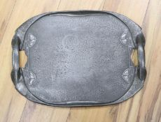 A Liberty Tudric pewter tray, shape 0231, 48 x 35cm