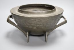 A Liberty's Tudric pewter two handled bowl, shape no.0229, diameter 25cm