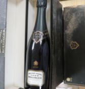 Four bottles of Bollinger Grande Annee 1990 champagne, boxed