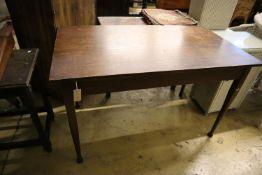 An early 20th century oak side table, width 122cm, depth 68cm, height 74cm