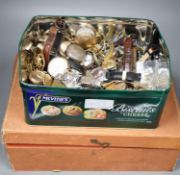 A large collection of wrist and pocket watches including gold plated, silver etc.), including