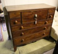 A George IV mahogany secretaire chest, width 124cm, depth 55cm, height 116cm