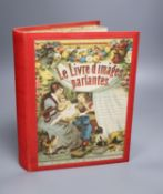 A French talking book, Le Livre d'Images Parlyntes, cloth in good condition
