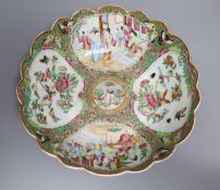 A 19th century Chinese famille rose dish, 26cm diameter