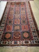 A Caucasian garden design rug, 310 x 160cm
