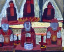 Kha Nygun (Vietnamese)gouache on paper'Hanoi, North Vietnam'signed and dated '9852 x 61cm