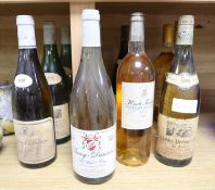 Twelve bottles of mixed white wine including a bottle of Chablis Premier Cru 1995 and a 1978