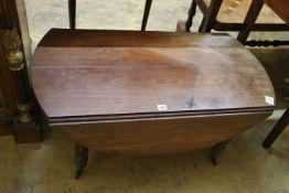 A small Victorian drop leaf table, width 96cm, depth 50cm, height 41cm