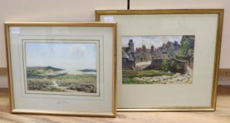 W W Collins, two watercolours, Purbeck Heath and Old Mill Pool, Swanage, signed, 17 x 25cm,