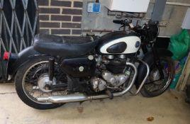 An AJS motorcycle, model 31, 'Hurricane' 650cc circa 1959