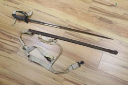 A 19th century sword for the Northumberland Fusiliers, Major Campbell