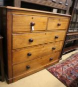 A Victorian mahogany chest of drawers, width 120cm, depth 51cm, height 108cm